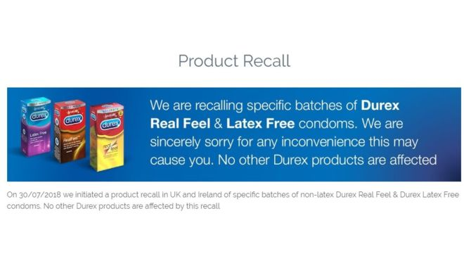 product recall sutcliffe & co