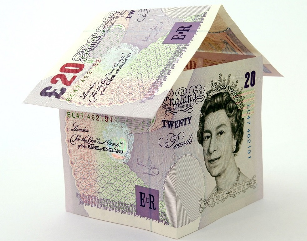 building of £20 notes