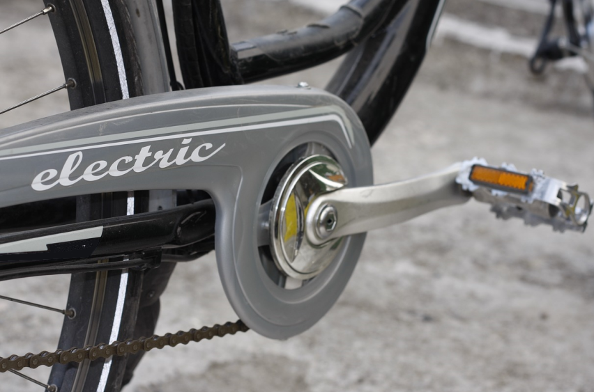 part of an electric bike